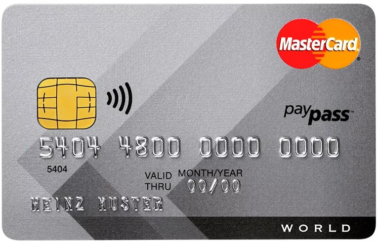 Банковская карта с поддержкой функции бесконтактной оплаты
